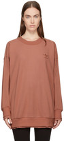 adidas Pink Long Raw Edge Sweatshirt