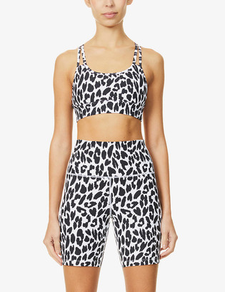 Lorna Jane Lynx animal-print high-waist stretch-jersey bike shorts