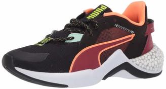 Puma Women's Hybrid Nx Sneaker Black-Tapioca White Numeric_5_Point_5