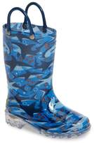 Western Chief Shark Chase Light-Up Rain Boot