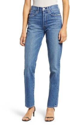 Edwin Cai High Waist Straight Leg Jeans