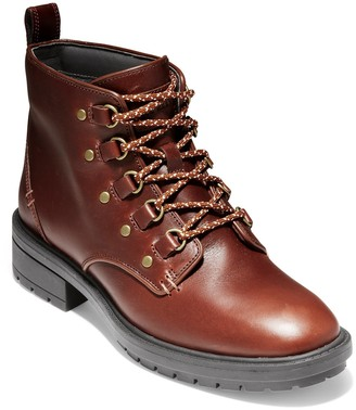 Cole Haan Briana Grand Lace-Up Leather Hiker Boot