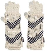 Muk Luks 3-in-1 Zigzag Tech Gloves