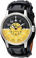 Fortis Men's 595.11.14 L.01 Flieger Cockpit Yellow Analog Display Automatic Self Wind Black Watch