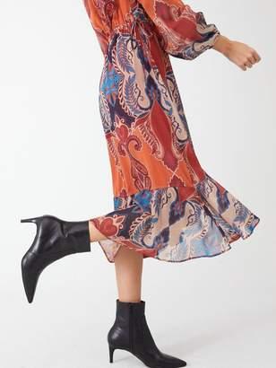 Very Paisley Wrap Midi Dress - Print