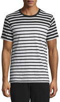 Rag & Bone Colorblock Striped Short-Sleeve Tee, Black Stripe