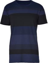 Marc by Marc Jacobs Twilight Navy/Black Cotton Dylan Stripe T-Shirt