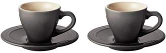 Le Creuset 4-Piece Espresso Cups and Saucers Set