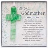 Grandparent Gift Co. The The Grandparent Gift Handmade Glass God Mother Cross Frame