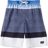 Big Chill Dark Blue Color Block Board Shorts - Boys