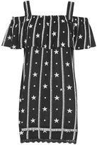 Topshop Star embroidered bardot dress
