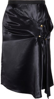 Nina Ricci Draped satin wrap-effect skirt