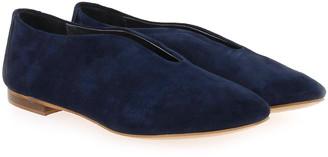 SMS - Brunilde Ballerinas in Navy Suede - 36 | leather | navy blue - Navy blue