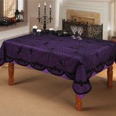Bed Bath & Beyond Bats And Spiders 60-Inch x 84-Inch Oblong Lace Tablecloth in Black