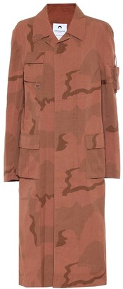 Marine Serre Camouflage cotton coat