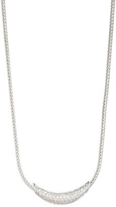 John Hardy Classic Chain Silver & Diamond Pave Necklace