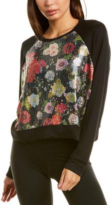 Terez Winter Floral Sequin Sweatshirt
