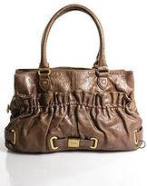 Botkier Beige Leather Gold Tone Textured Large Satchel Bag