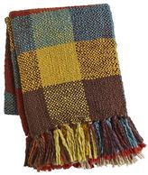 Pier 1 Imports Colorblock Plaid Knit Throw