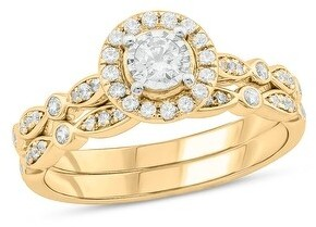 Cali Trove 1/2 cttw Diamond Bridal Set in 10kt Gold