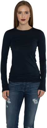 Velvet by Graham & Spencer Women's Gauzy Whisper Classics Longsleeve Tee