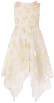 Under Armour Samantha Glitter Butterfly Hanky Hem Dress Gold