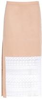 No.21 Half Lace Midi Skirt