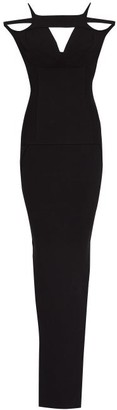 Rick Owens Easy Triangle-cutout Jersey Maxi Dress - Black