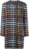 Etro houndstooth coat - women - Silk/Acrylic/Polyester/Wool - 42