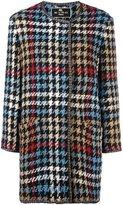 Etro houndstooth coat - women - Silk/Acrylic/Polyester/Wool - 50