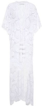 Miguelina Pompom-embellished Cotton Macrame Cover-up