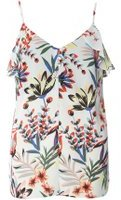 Dorothy Perkins Womens Floral Ruffle Cami Top- Fl Multi