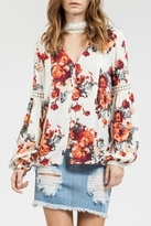 Blu Pepper Floral Blouse