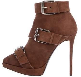 Giuseppe Zanotti Pointed-Toe Suede Booties w/ Tags