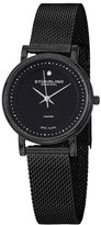 Stuhrling Original Women's 734LM.03 Ascot Casatorra Analog Swiss Quartz Black Stainless Steel Mesh Bracelet Watch