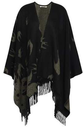 McQ Fringed Jacquard Wool Wrap