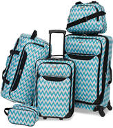 Tag Springfield III Printed 5-Pc. Luggage Set, Created for Macy's