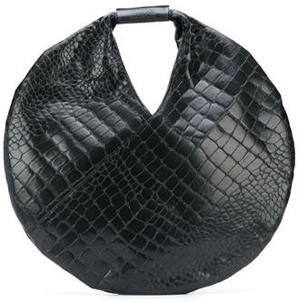 MM6 MAISON MARGIELA Embossed Crocodile-Effect Circle Bag