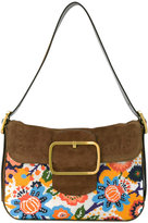 Tory Burch tapestry buckle bag - women - Leather/Polyester - One Size