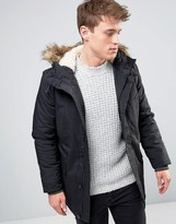 New Look Parka Jacket In Black