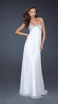La Femme Beaded Sweetheart Chiffon A-line Dress 17114