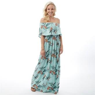 Animal Womens Maxine Woven Maxi Dress Blue Haze