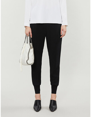 Stella McCartney Julia relaxed-fit high-rise crepe trousers