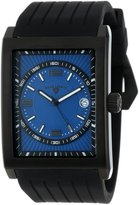 Swiss Legend Men's 40012-BB-03 Limousine Textured Dial Black Silicone Watch