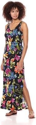 Karen Kane Women's Botanica Print Alana Maxi Dress Medium