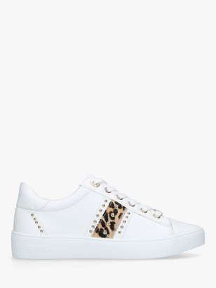 Carvela Jargon Studded Low Top Trainers, White/Tan