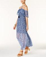 MICHAEL Michael Kors Off-The-Shoulder Maxi Dress