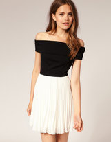 ASOS 2 in 1 Dress with Pleated Skirt