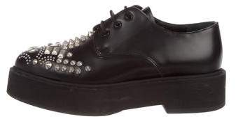 Alexander McQueen Studded Leather Oxfords