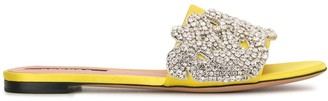 Rochas Crystal Embellished Flat Mules